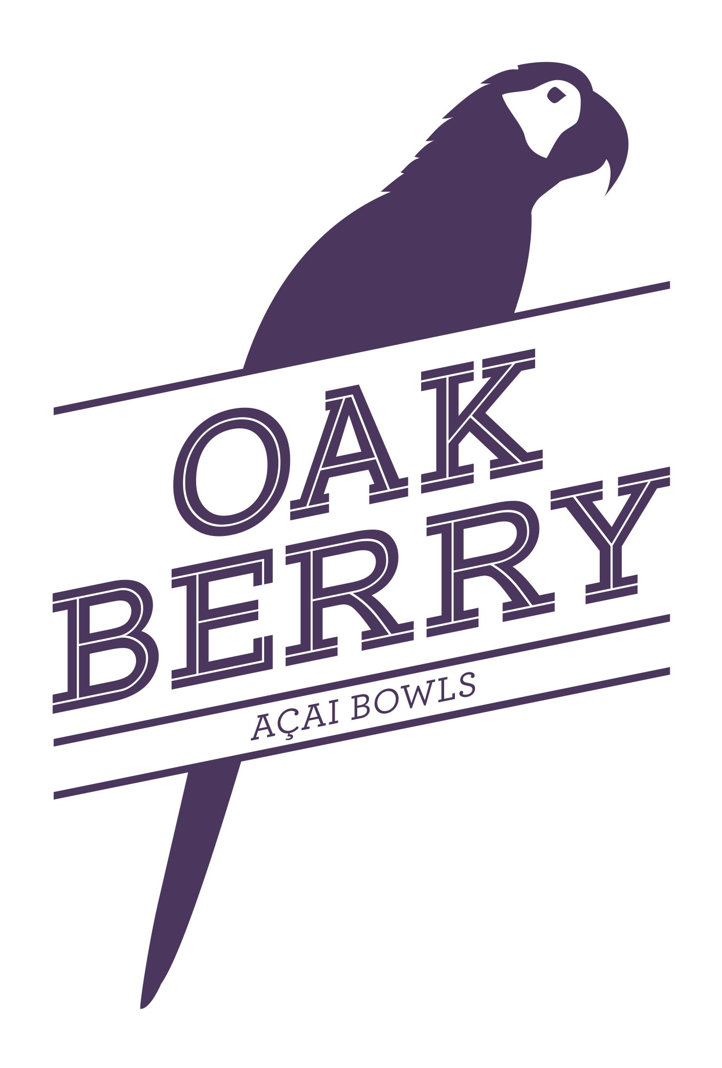 Logo marca empresa: OAKBERRY Açaí Bowls